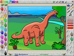 DinoPaint Dinosaur Coloring Book